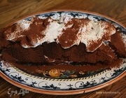 Шоколадный рулет с малиновым кремом