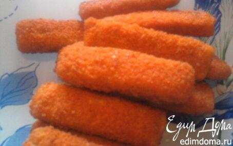 Рецепт Рыбные палочки по-домашнему.