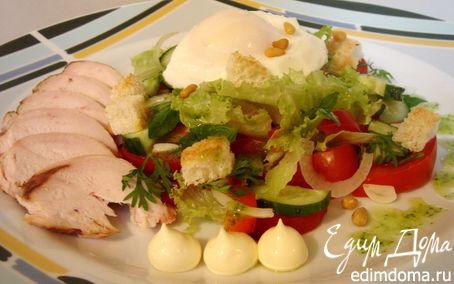Рецепт Салат с копчёной куриной грудкой