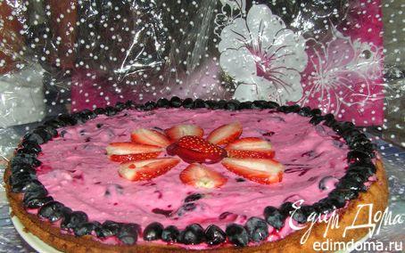 Рецепт Пирог с летним ягодным кремом