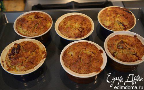 Рецепт Маффины с персиками и овсяными хлопьями