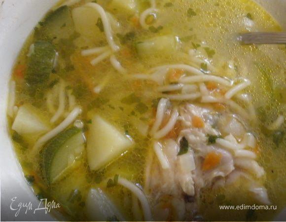 Куриный суп с цукини