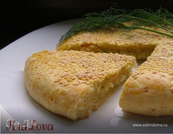 Творожно-сырная лепешка