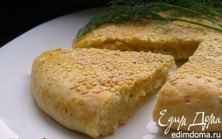 Рецепт Творожно-сырная лепешка