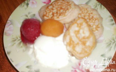 Рецепт Оладушки на ежевичном йогурте