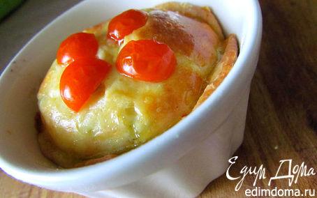 Рецепт Киш с овощами и куриными сердечками