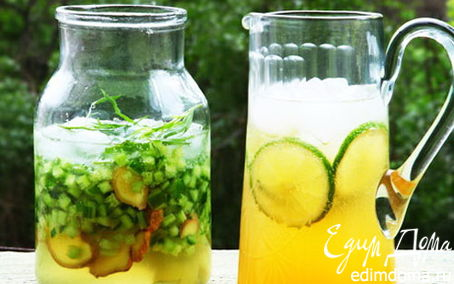 Рецепт Лаймовый лимонад с жасмином и зеленым чаем