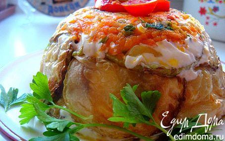 Рецепт Тортик-закуска из кабачков (с посвящением Тусе)