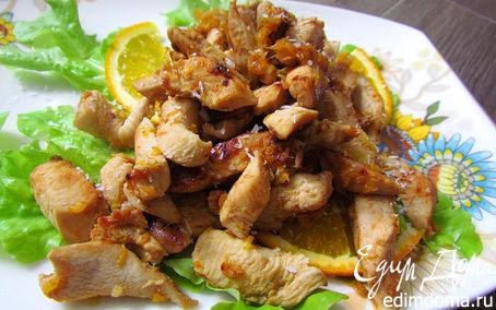 Рецепт Куриное филе с апельсином, имбирем и кокосом