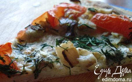 Рецепт Пицца а-ля рус с белыми грибами и укропом