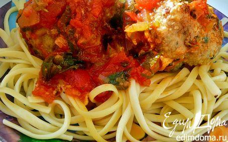 Рецепт Почти Италия(тефтели с сыром и шпинатом,в томатном соусе)