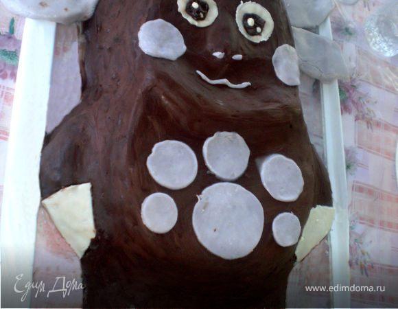 """Торт """"Лунтик в шоколаде"""""""