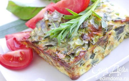 Рецепт Запеканка луковая с базиликом и козьим сыром.