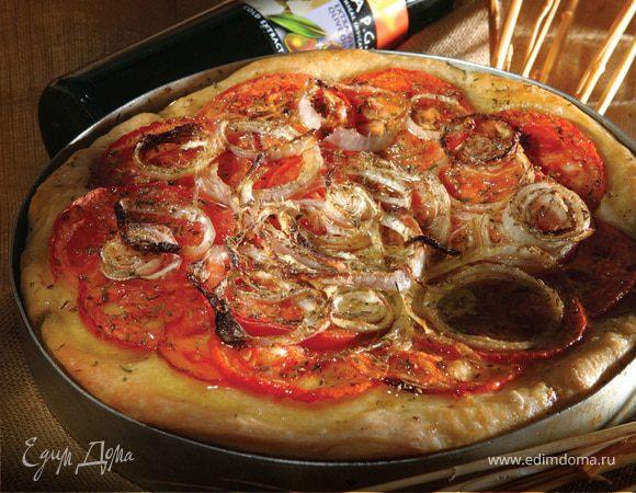 Традиционный греческий пирог с томатами и луком «Ладения»