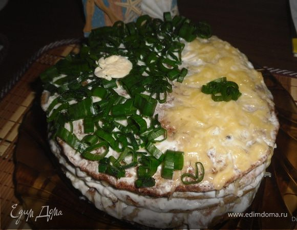 Кабачково -печеночный тортик