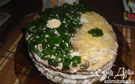 Рецепт Кабачково -печеночный тортик