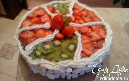 Рецепт Торт со свежими фруктами