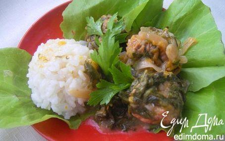 Рецепт Свинина со сливами , шпинатом и чесноком, для Мария (LapSha)