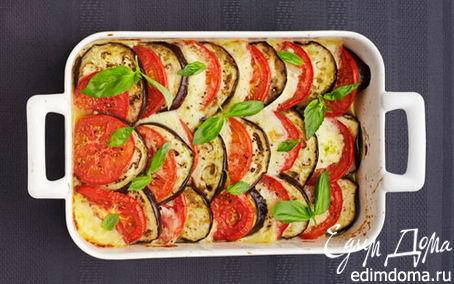 Рецепт Баклажаны с сулугуни и помидорами