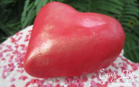 Рецепт Серце из мастики МК.