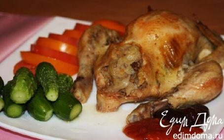 Рецепт Курица, фаршированная кислой капустой (в рукаве)