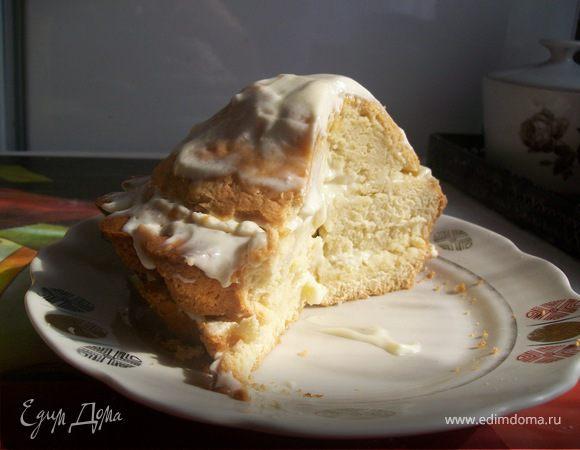 Домашний пирог со сметанным кремом.