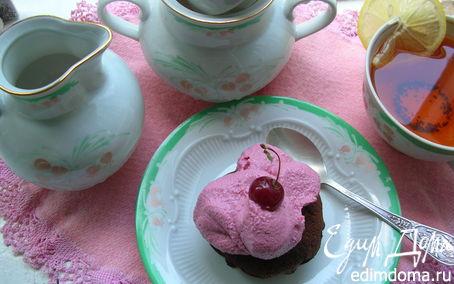 Рецепт Лимонные кексы с творожно-вишневым кремом