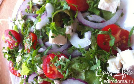 Рецепт Салат с баклажанами и сыром фета
