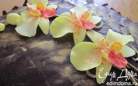 Рецепт Орхидея из мастики МК