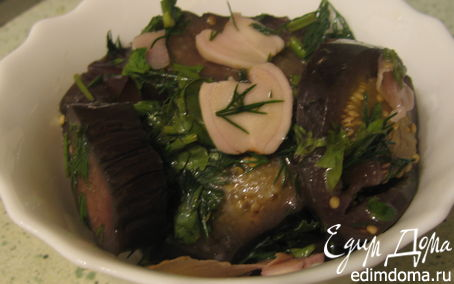 Рецепт Баклажаны с хреном и имбирем