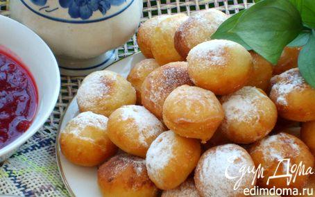 Рецепт Пончики картофельные со смородиновым соусом