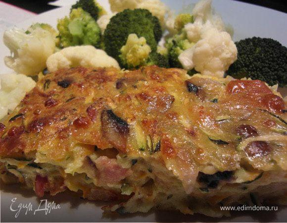 Zucchini Slice/Запеканка из кабачков