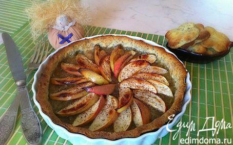 Рецепт Медовый Спас: Маковый пирог с яблоками и медом