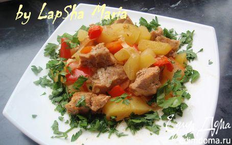 Рецепт Мясо запеченное с овощами в рукаве