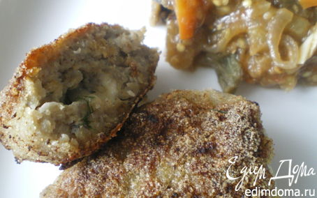 Рецепт Нежные щучьи котлеты с тушёными овощами.