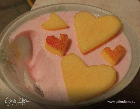 Вишневая панна котта из йогурта
