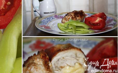 Рецепт Куриный рулетик с сыром