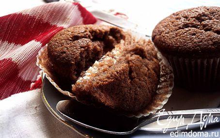 Рецепт Шоколадные маффины с творожной начинкой