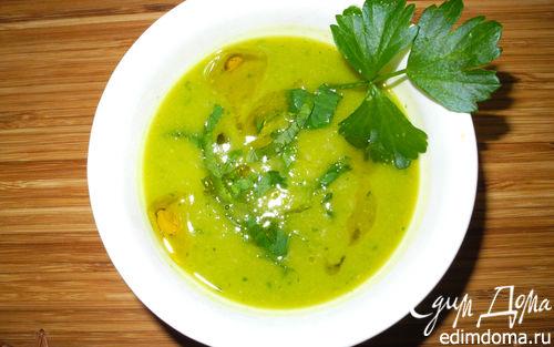 Рецепт Суп-пюре из тыквы и горошка