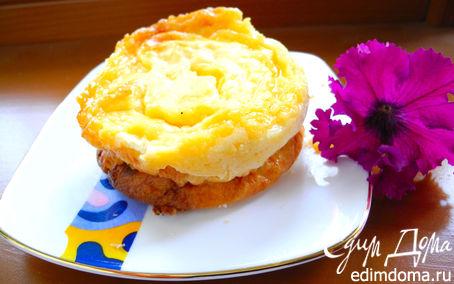Рецепт Пирожные творожные с португальским заварным кремом