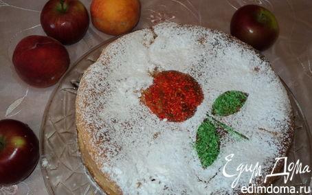 Рецепт Пирог с яблоками и персиками.