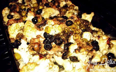 Рецепт Цветная капуста с грибами