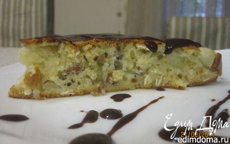 Рецепт Яблочный пирог с медом и овсяными хлопьями