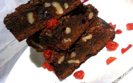 Рецепт Брауни с клюквой и грецкими орехами