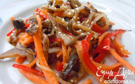 Рецепт Корейский салат из баклажанов