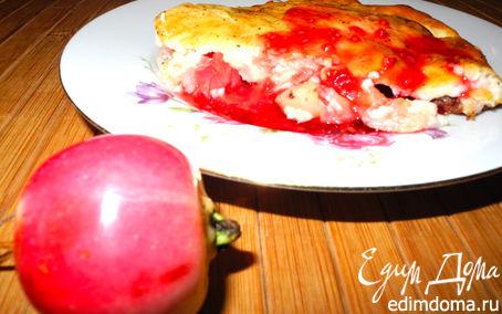 Рецепт Творожная шарлотка с райскими яблочками