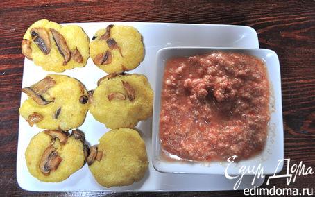 Рецепт Кукурузные лепешки с грибами