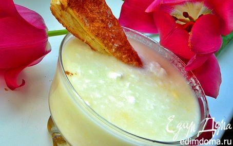 Рецепт Десерт с йогуртом,ревенем и слоеным коричным печеньем