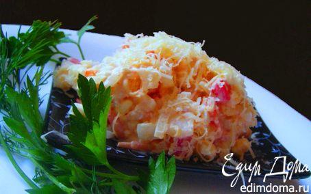 Рецепт Сырный салат с креветками и помидорами