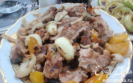 Рецепт Свиной шашлык в сметанном маринаде